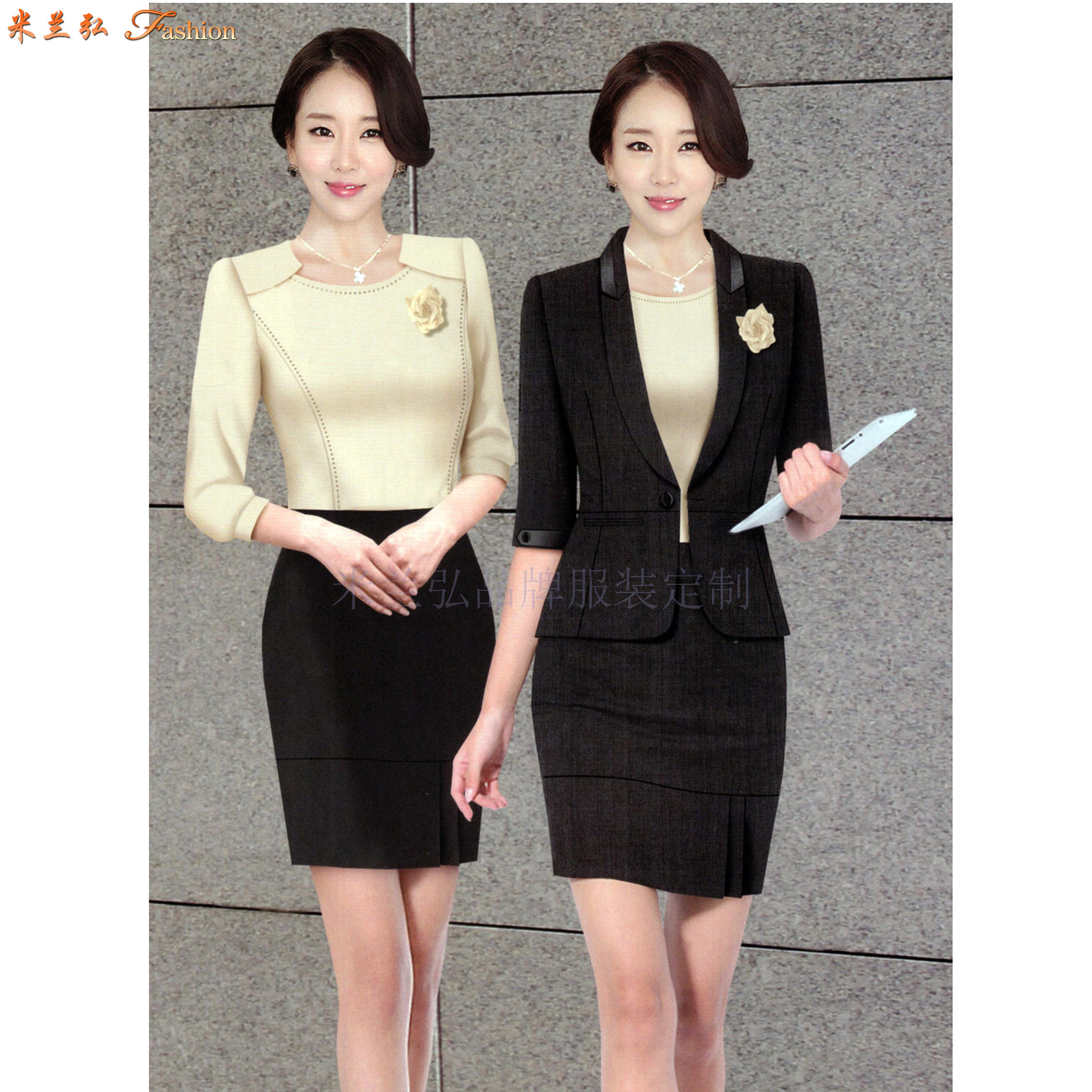 「聊城市職業裝」聊城市量身定做OL女式職業裝-米蘭弘服裝-3