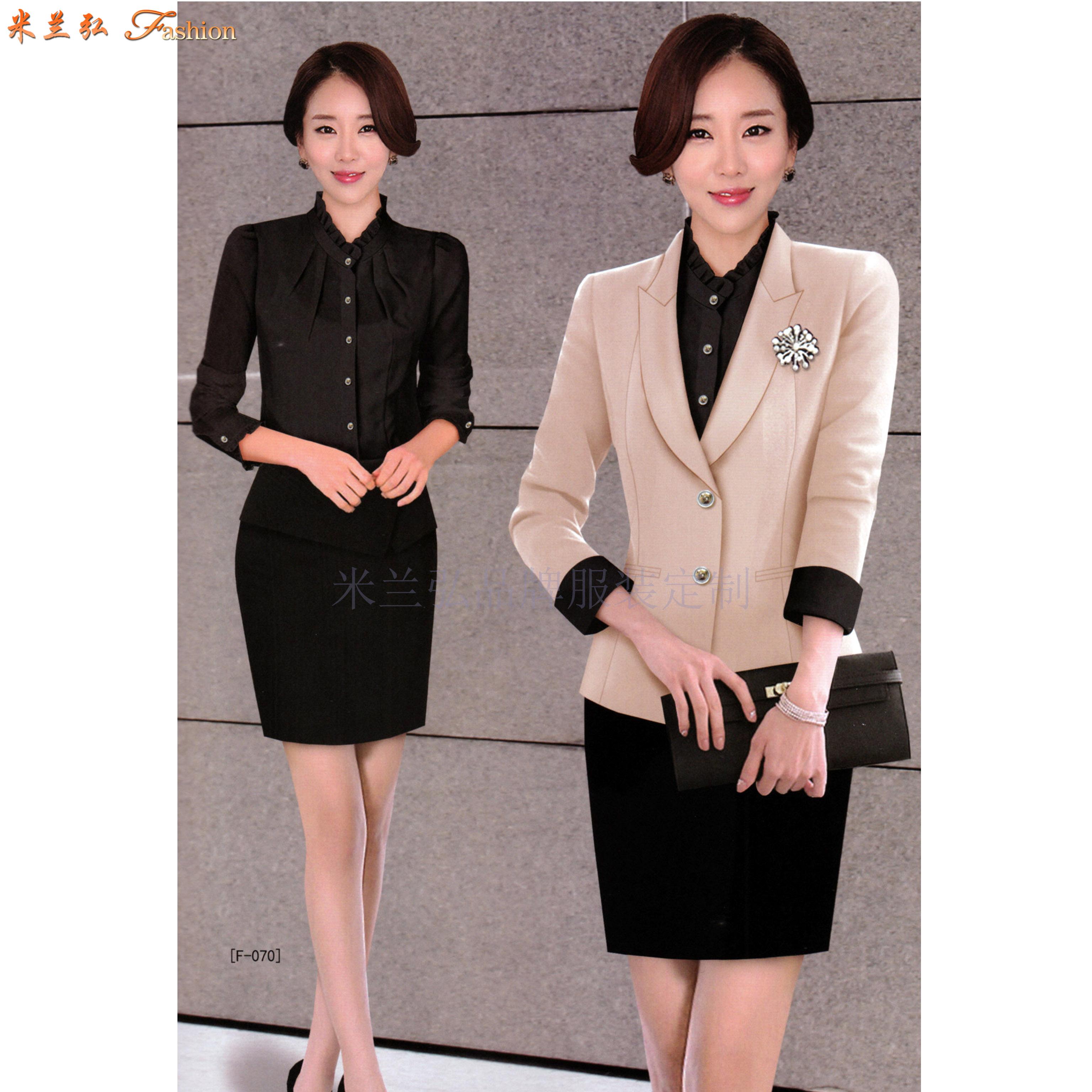 「聊城市職業裝」聊城市量身定做OL女式職業裝-米蘭弘服裝-4