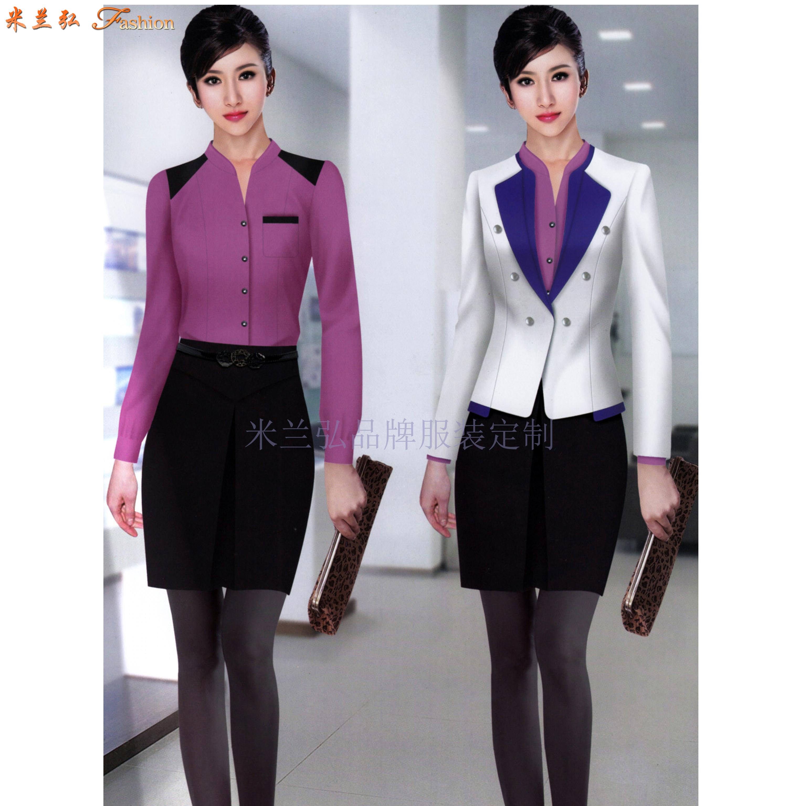 「聊城市職業裝」聊城市量身定做OL女式職業裝-米蘭弘服裝-1