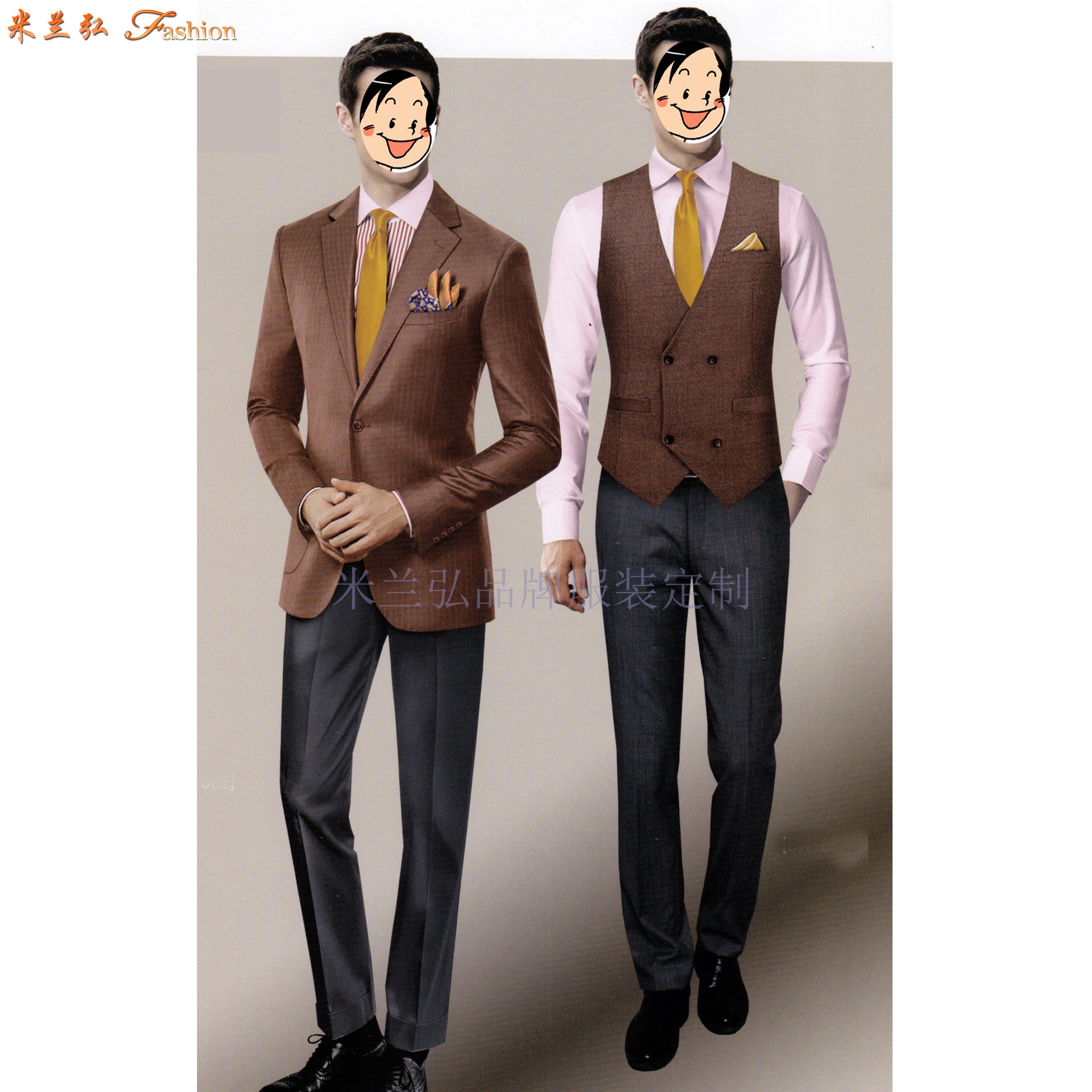 「山東西服定做」「青島市西服訂制」質料講究西服-米蘭弘服裝-4
