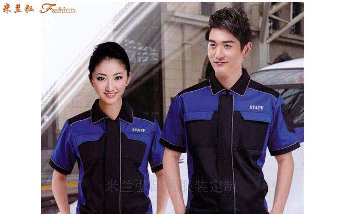 「夏天工程服定做」「短袖工程服訂做」滌棉防靜電-米蘭弘服裝