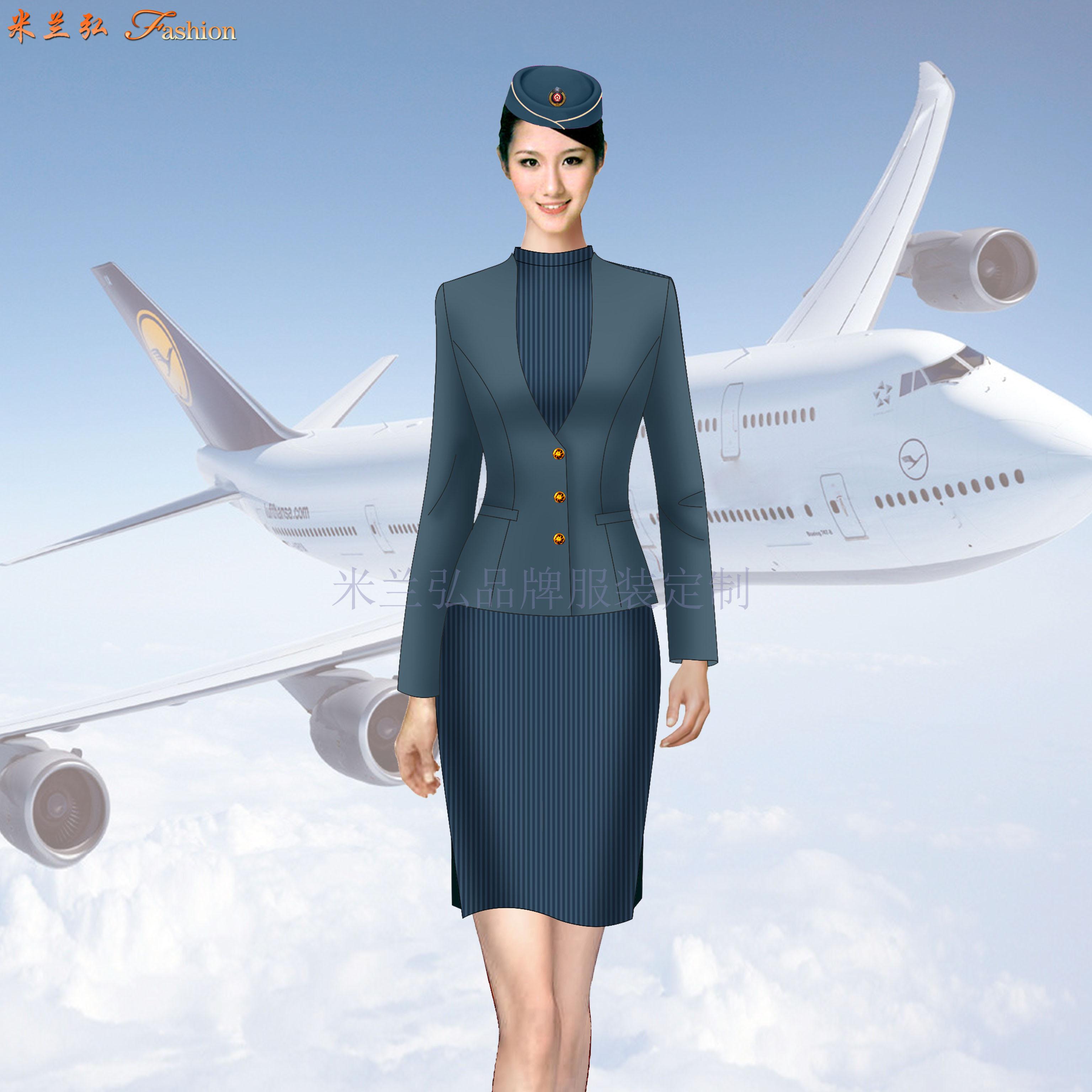 「遼寧空姐服定制」「沈陽空姐服定做」米蘭弘空姐服-1