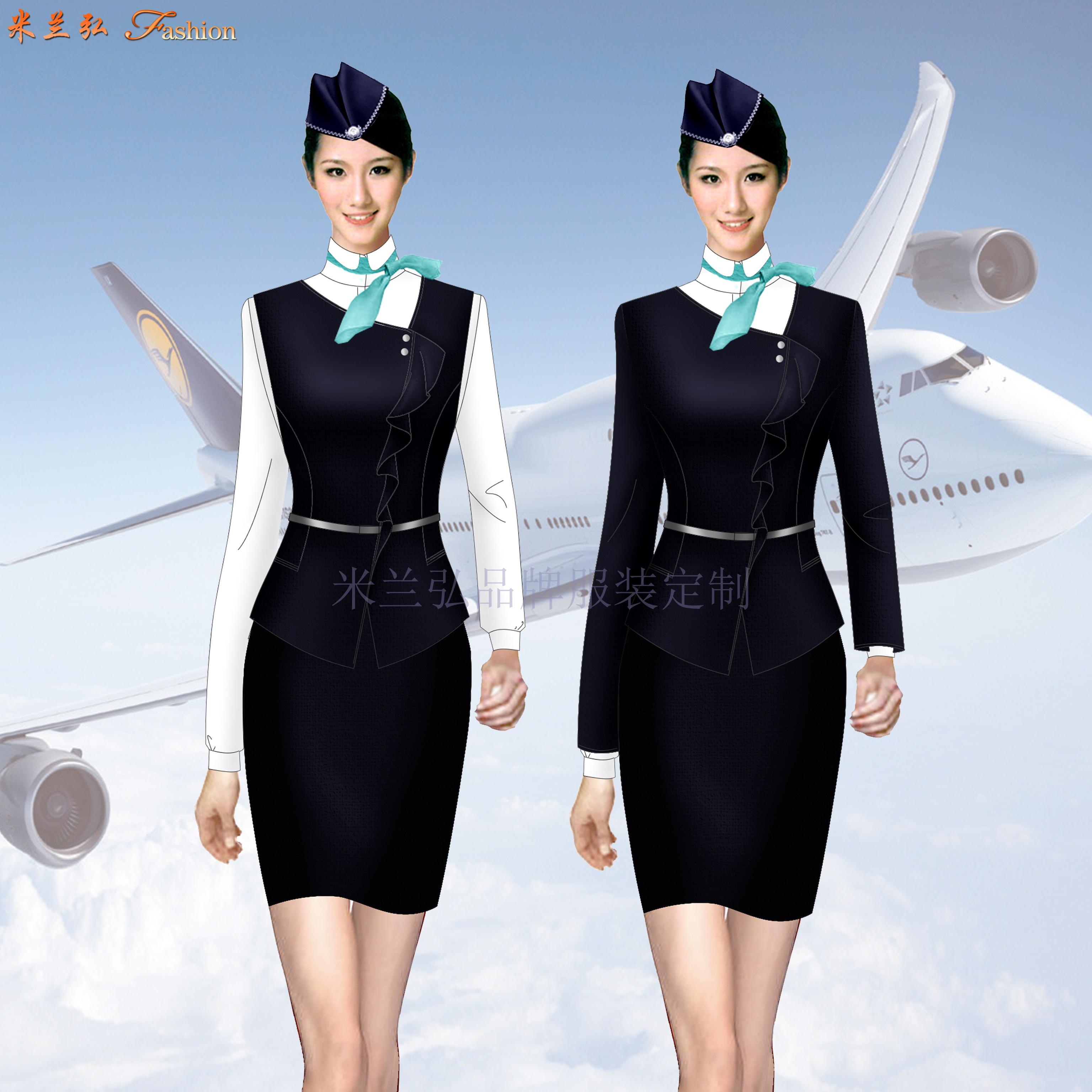 「遼寧空姐服定制」「沈陽空姐服定做」米蘭弘空姐服-4