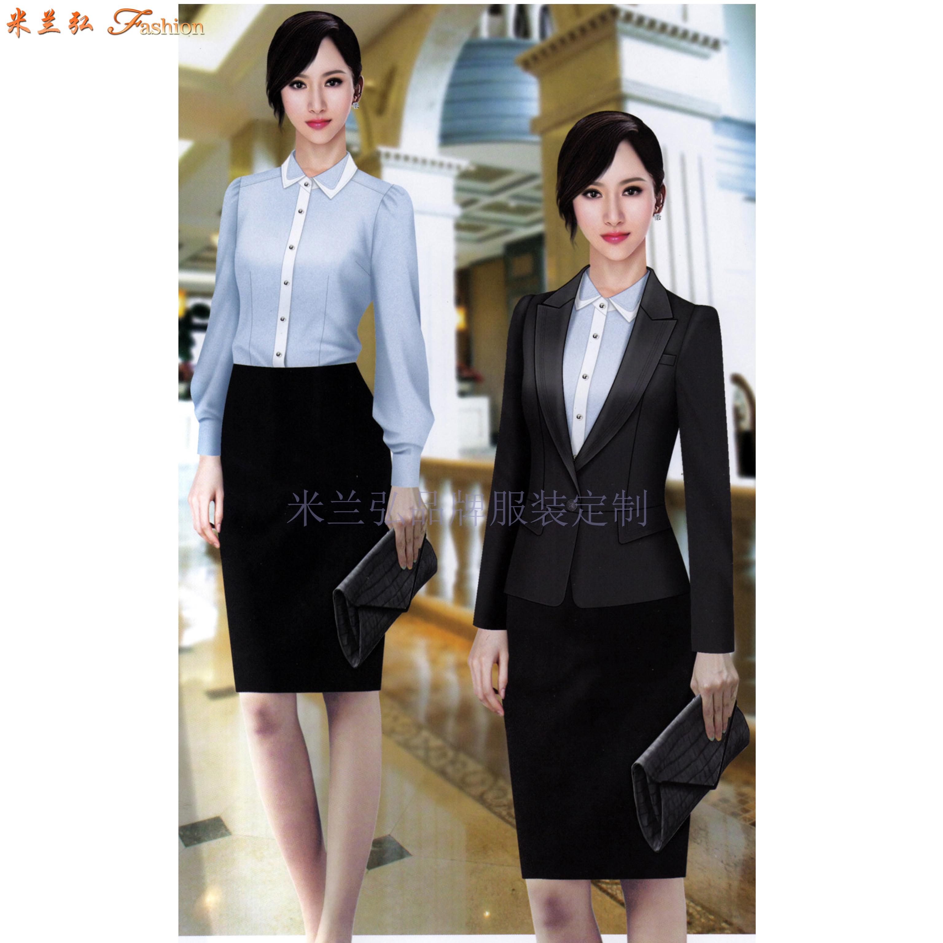 女士冬季職業裝搭配款式套裝_新款潮流女式職業裝-米蘭弘職業裝-1