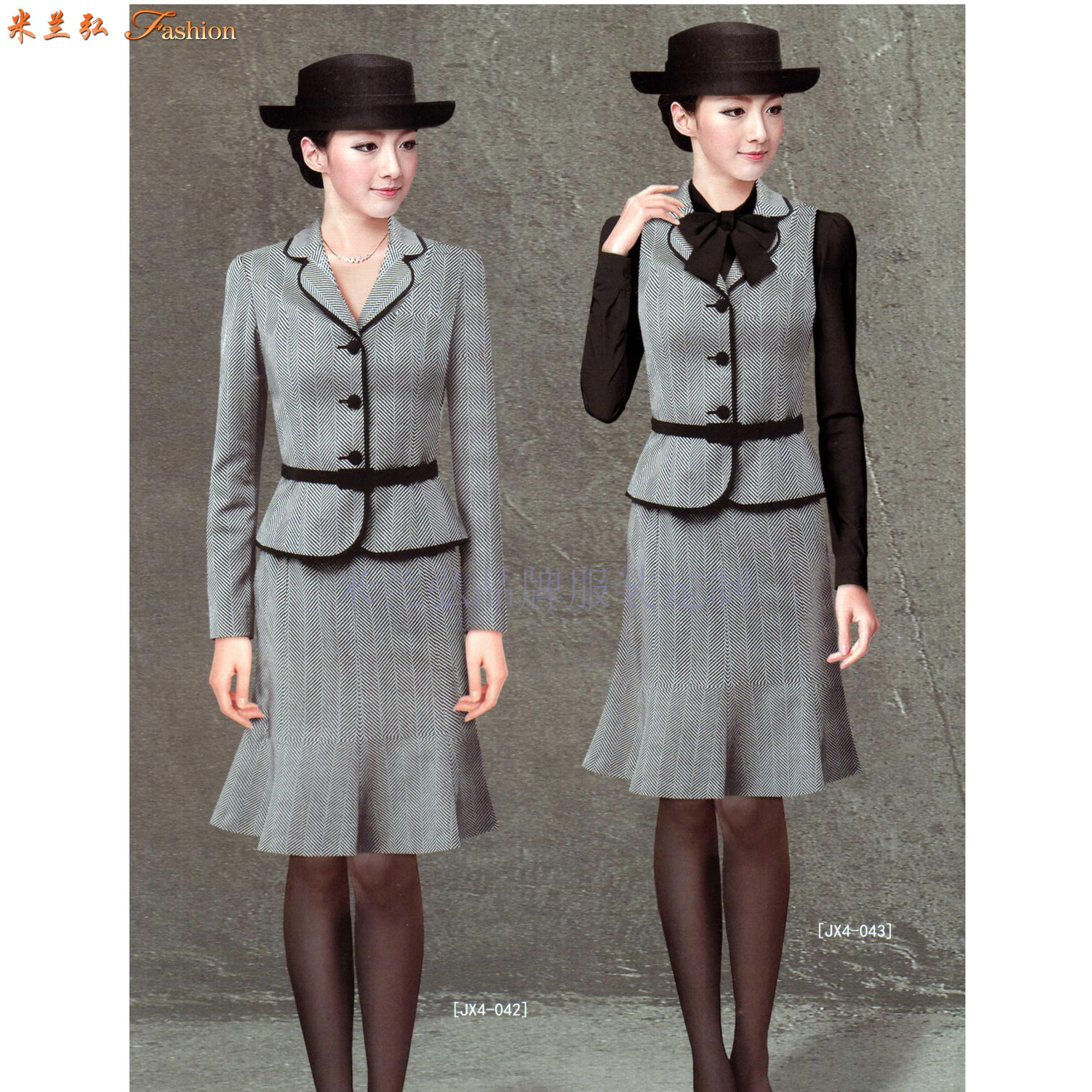 女士冬季職業裝搭配款式套裝_新款潮流女式職業裝-米蘭弘職業裝-3