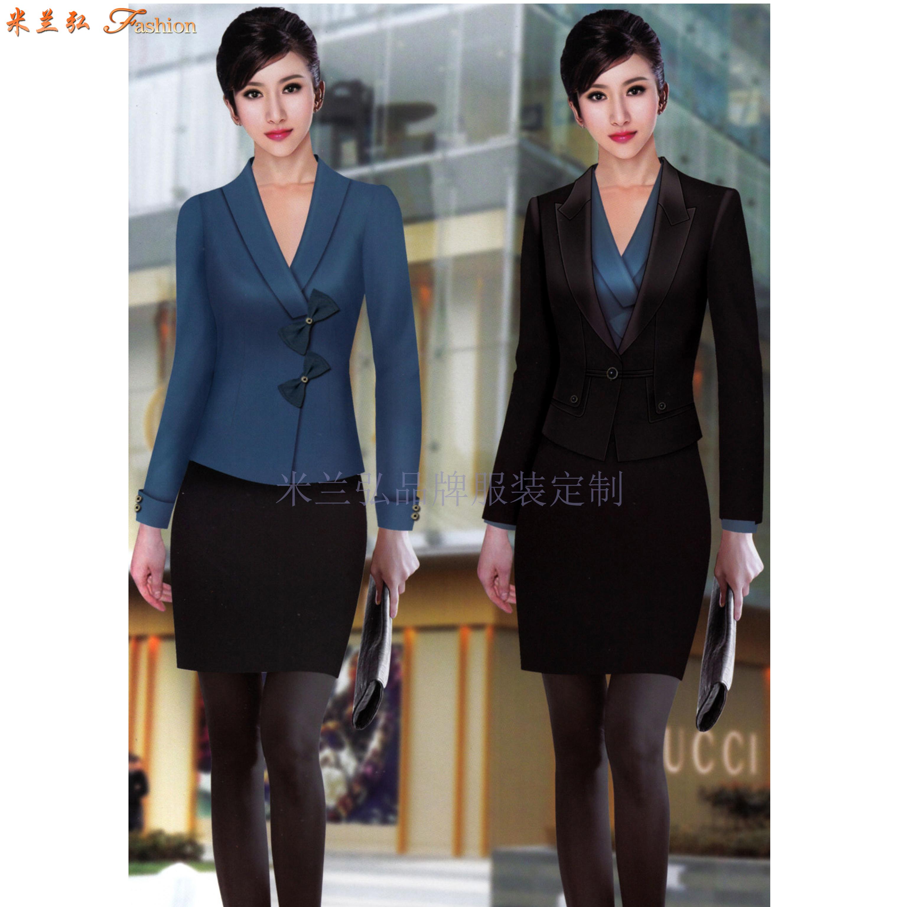 女士冬季職業裝搭配款式套裝_新款潮流女式職業裝-米蘭弘職業裝-5