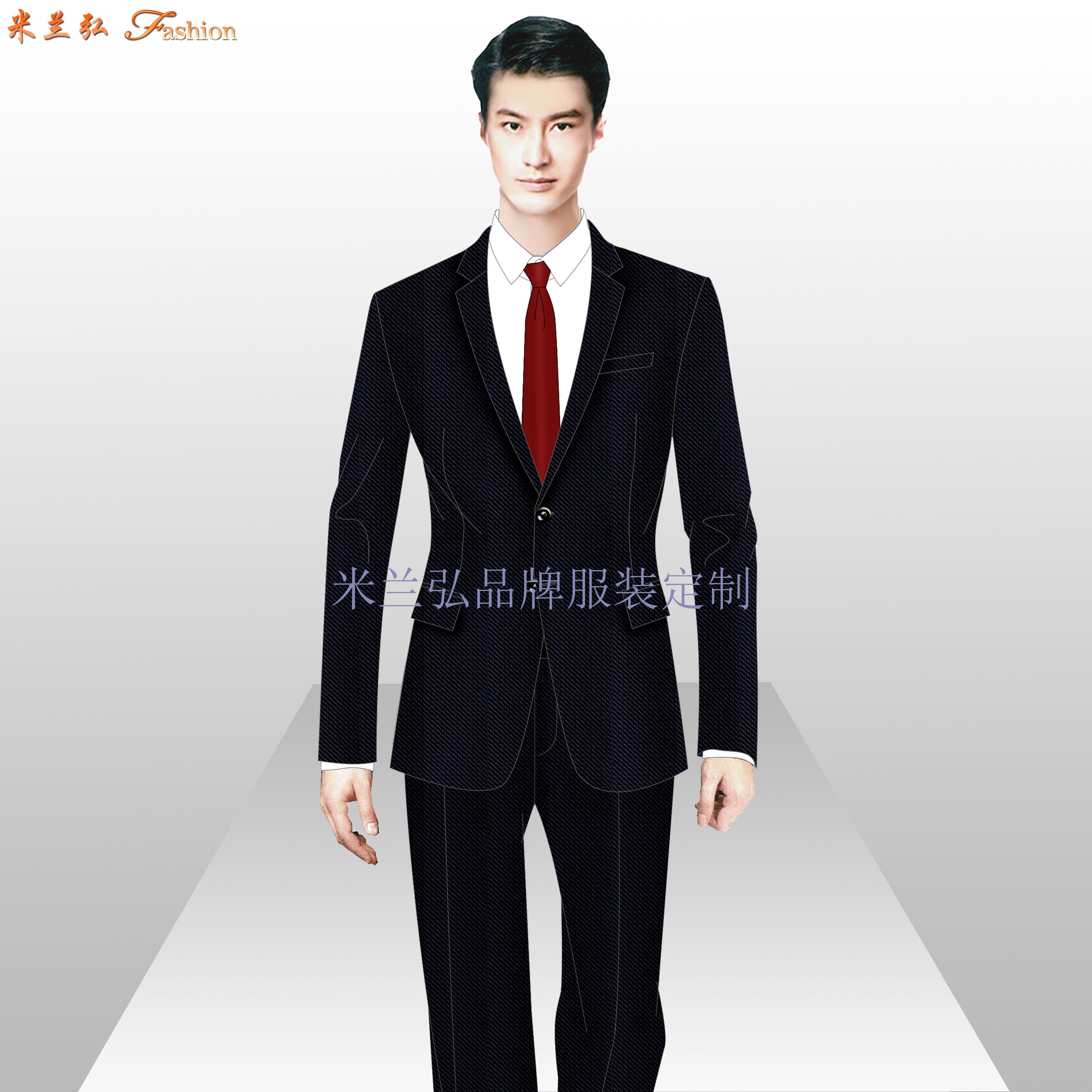 江西西装定做-两粒扣商务西服订制-米兰弘服装-5