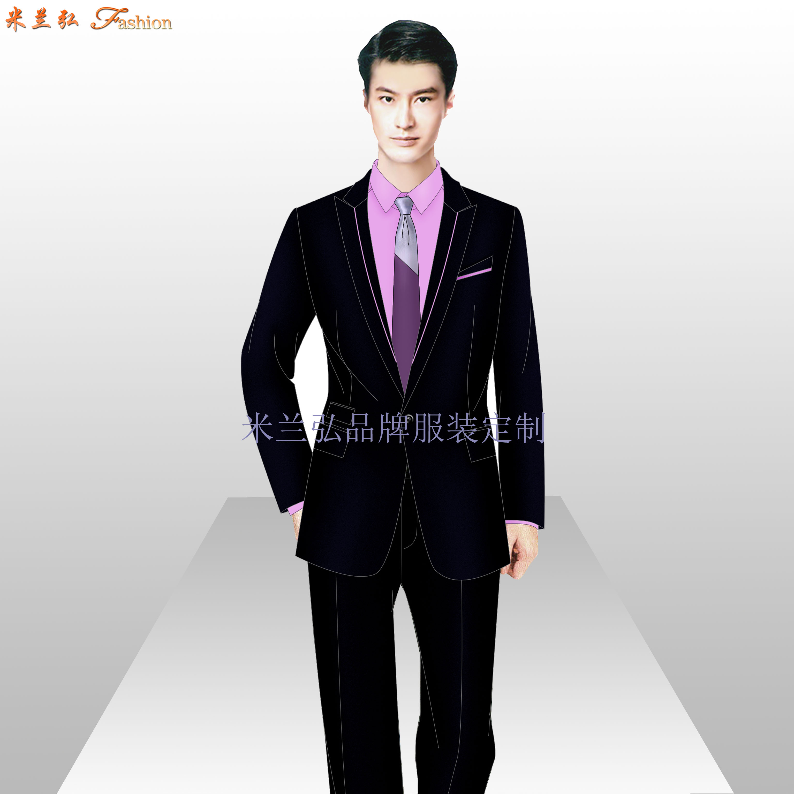 江西职业装定制-品牌职业装订做厂家-米兰弘服装-3