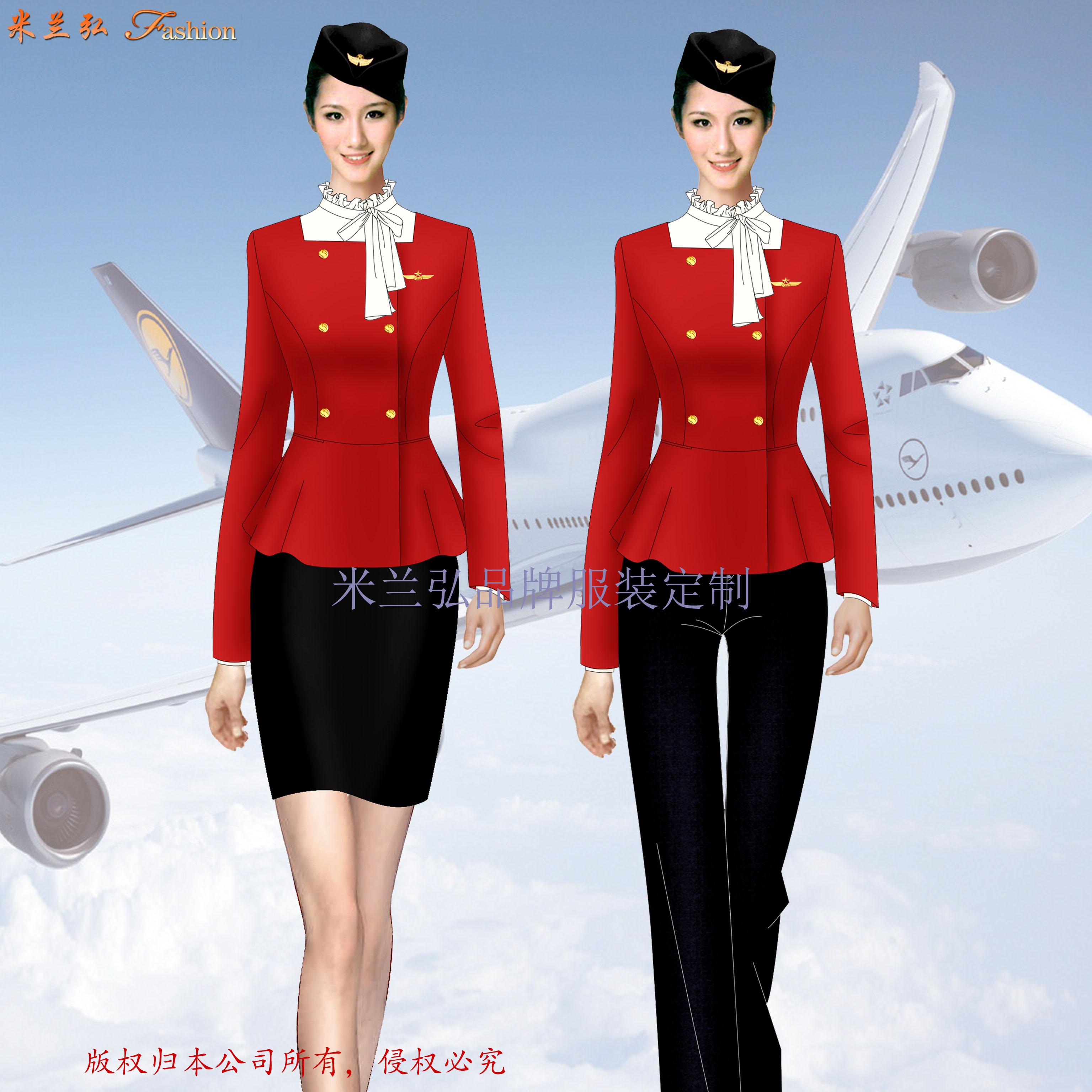 江西空姐服定制-空乘人员服装图片-米兰弘服装-1