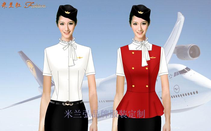 江西空姐服定制---空乘人员服装图片---米兰弘服装