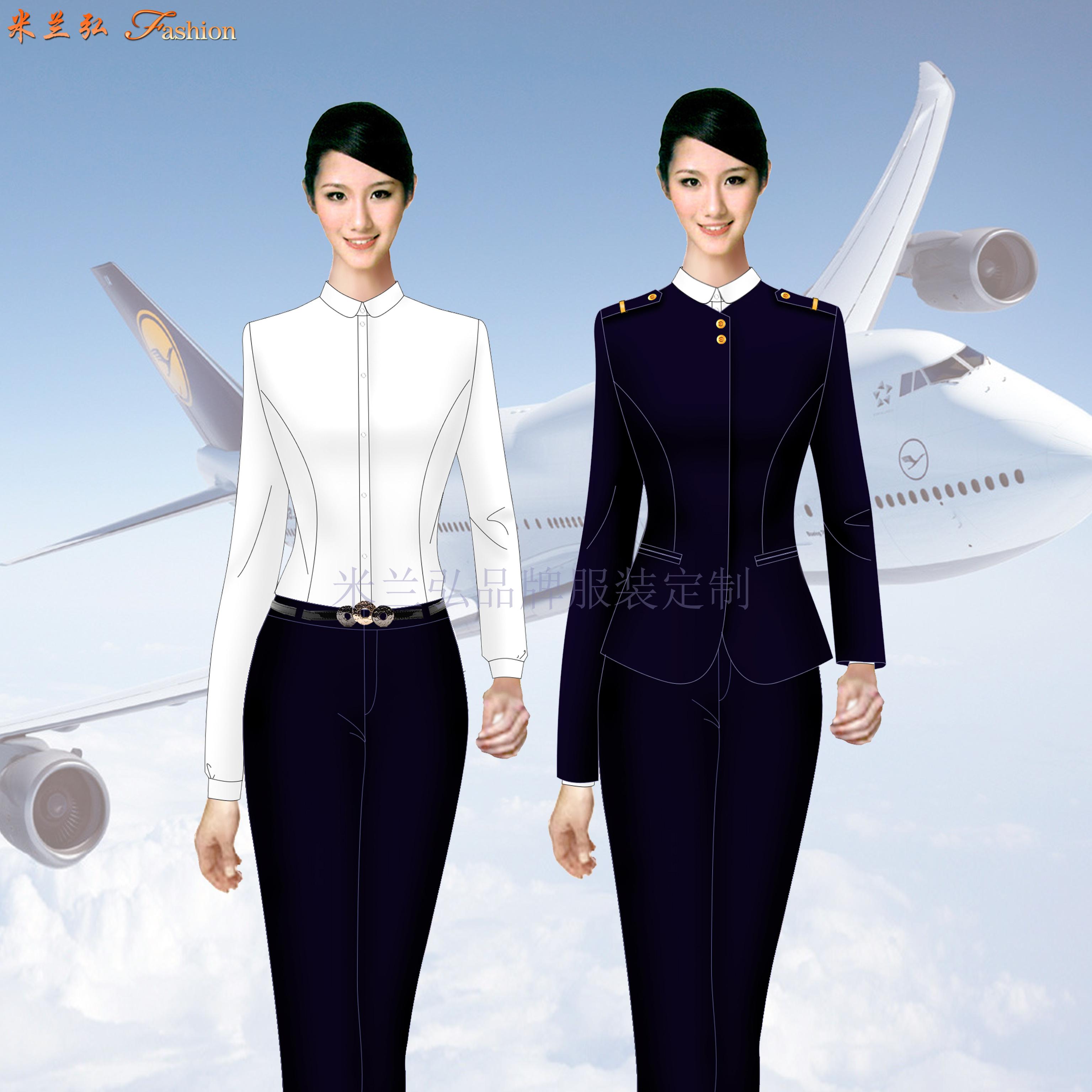 江西機場地勤服裝-機場職業裝定制-米蘭弘服裝-2