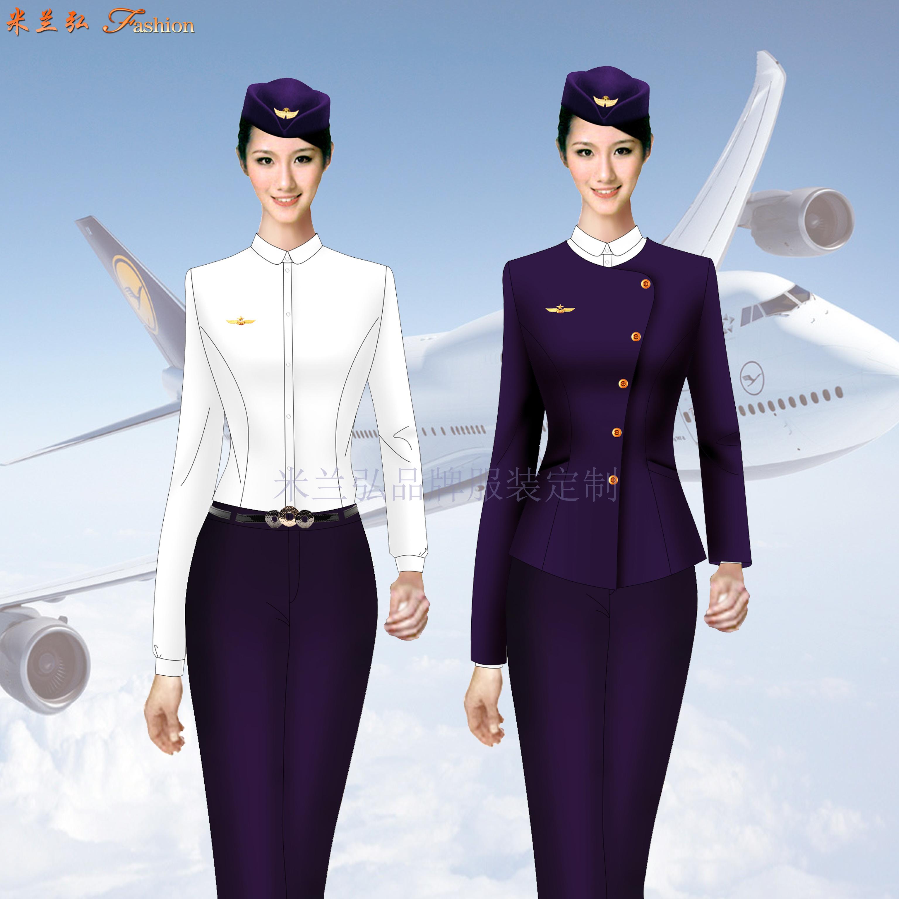 江西机场地勤服装-机场职业装定制-米兰弘服装-3