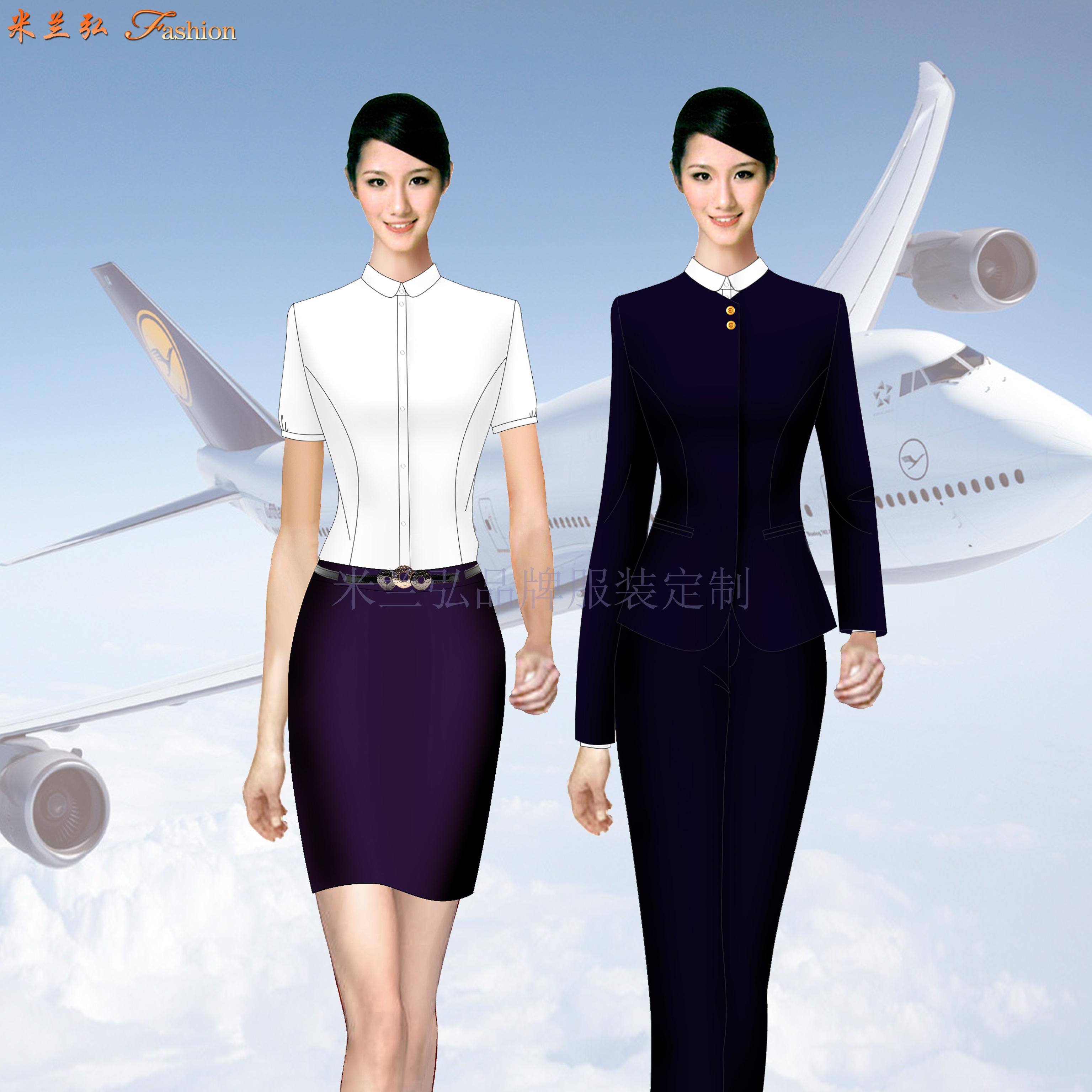 江西機場地勤服裝-機場職業裝定制-米蘭弘服裝-5