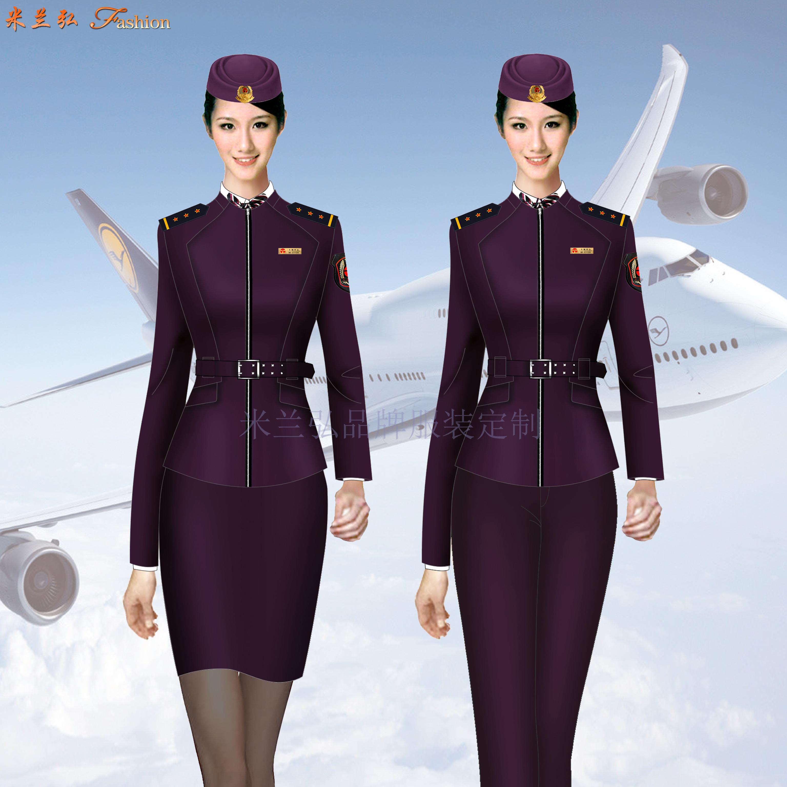 江西高铁工作服定制-高铁服务员服装图片-米兰弘服装-2