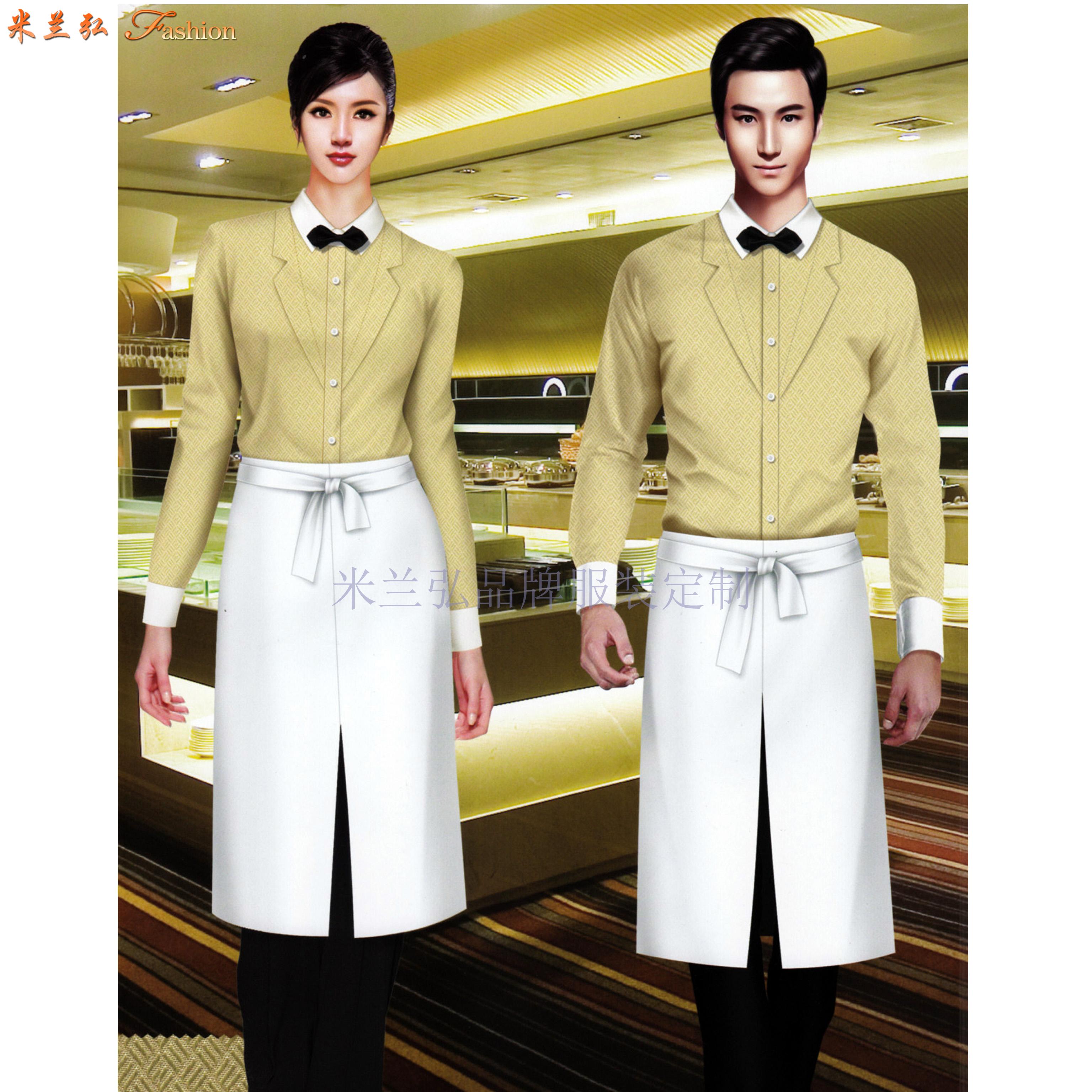 江西酒店服裝定做-餐飲工作服訂制價格-米蘭弘服裝-1