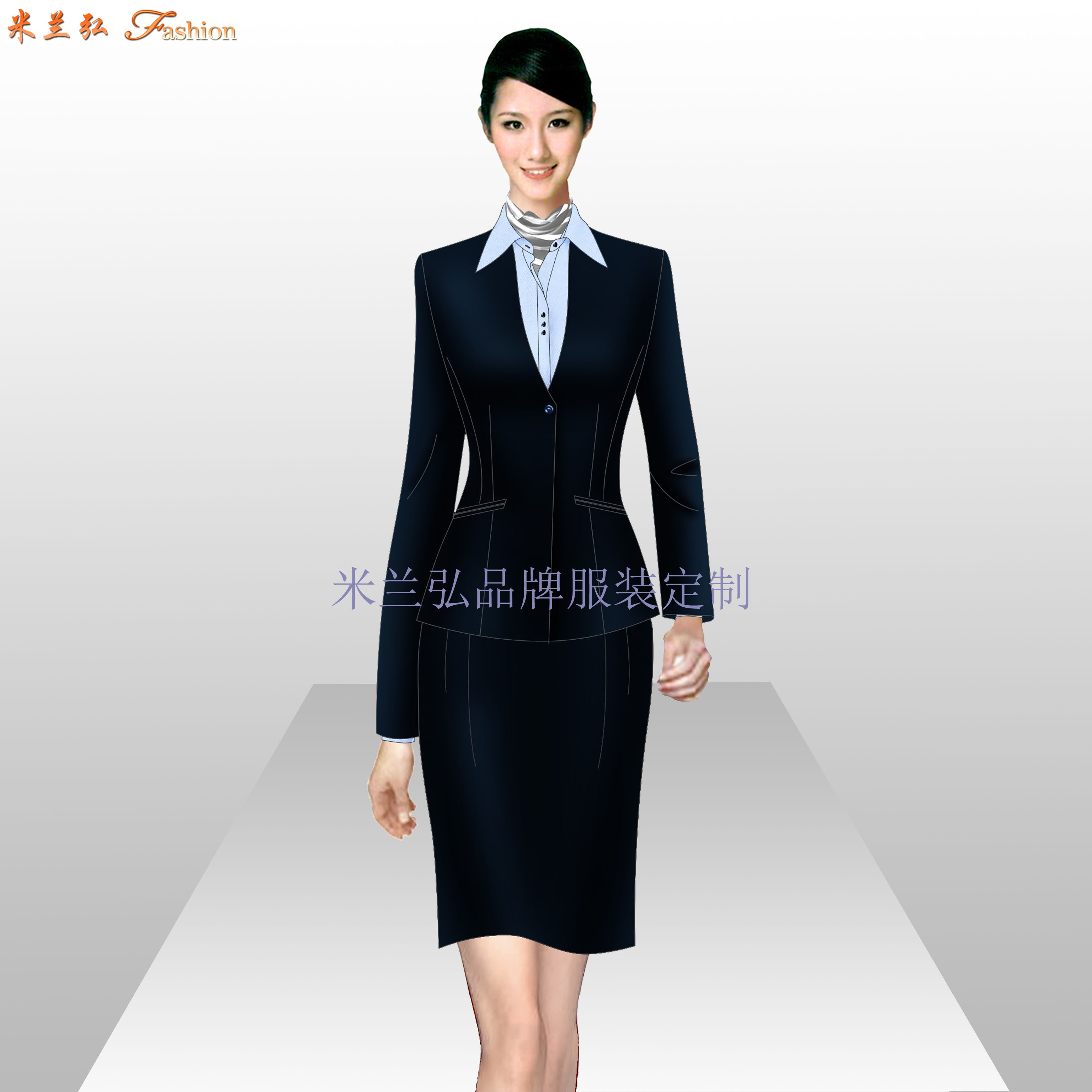 南昌職業裝定做-女士職業裝廠家定制-米蘭弘服裝-4