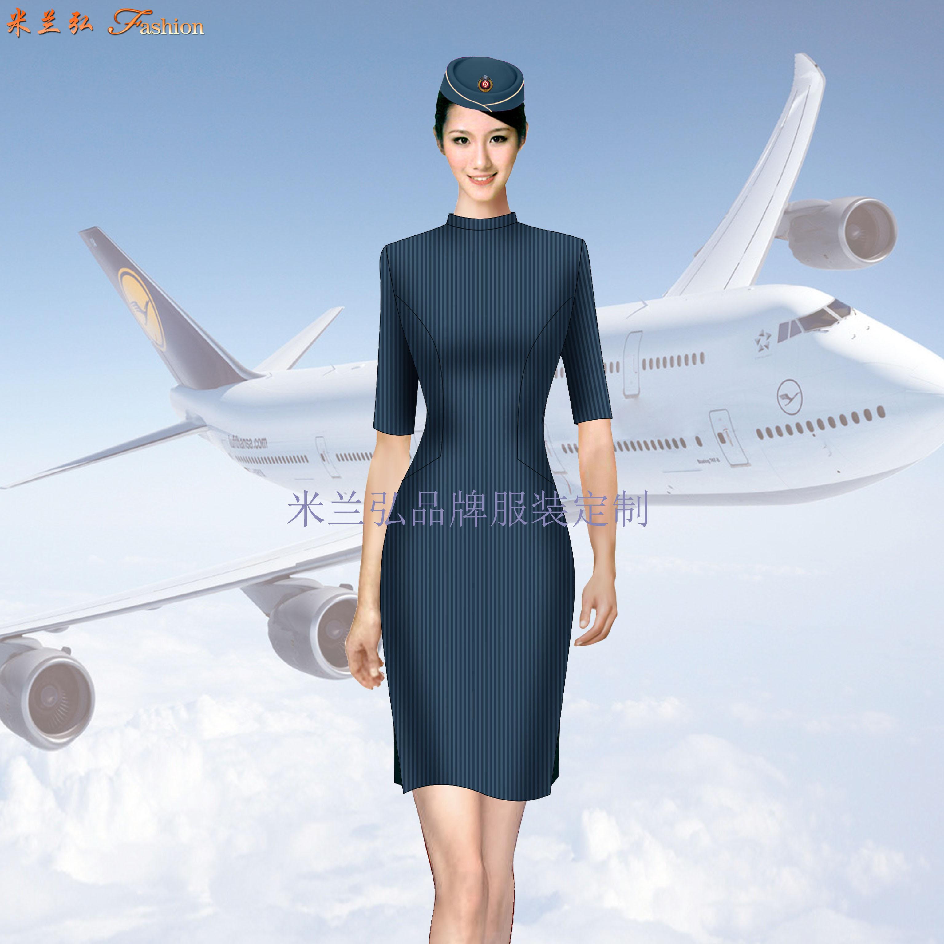 空姐連衣裙定制-量體定做空姐服夏裝廠家-米蘭弘服裝-4