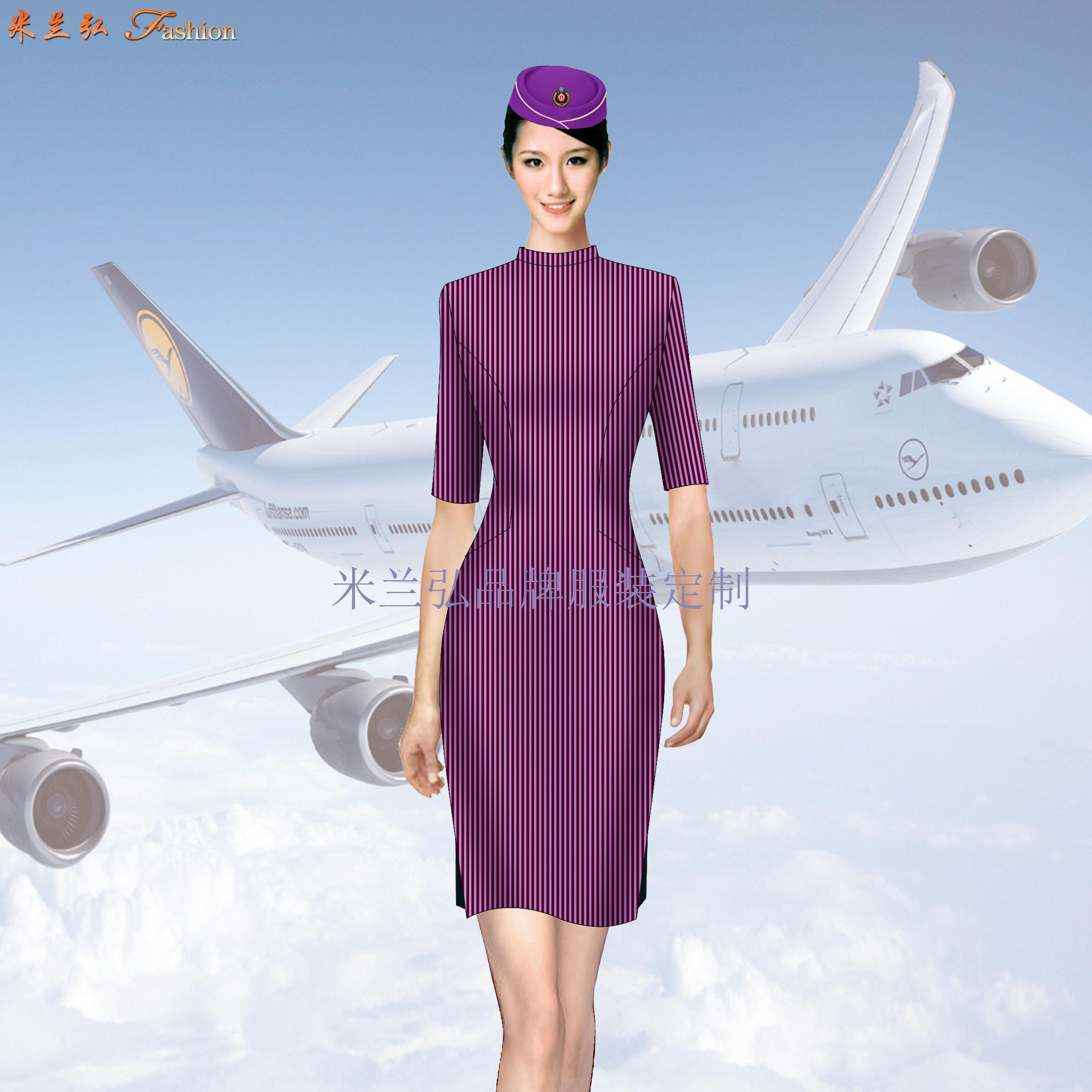 空姐連衣裙定制-量體定做空姐服夏裝廠家-米蘭弘服裝-5