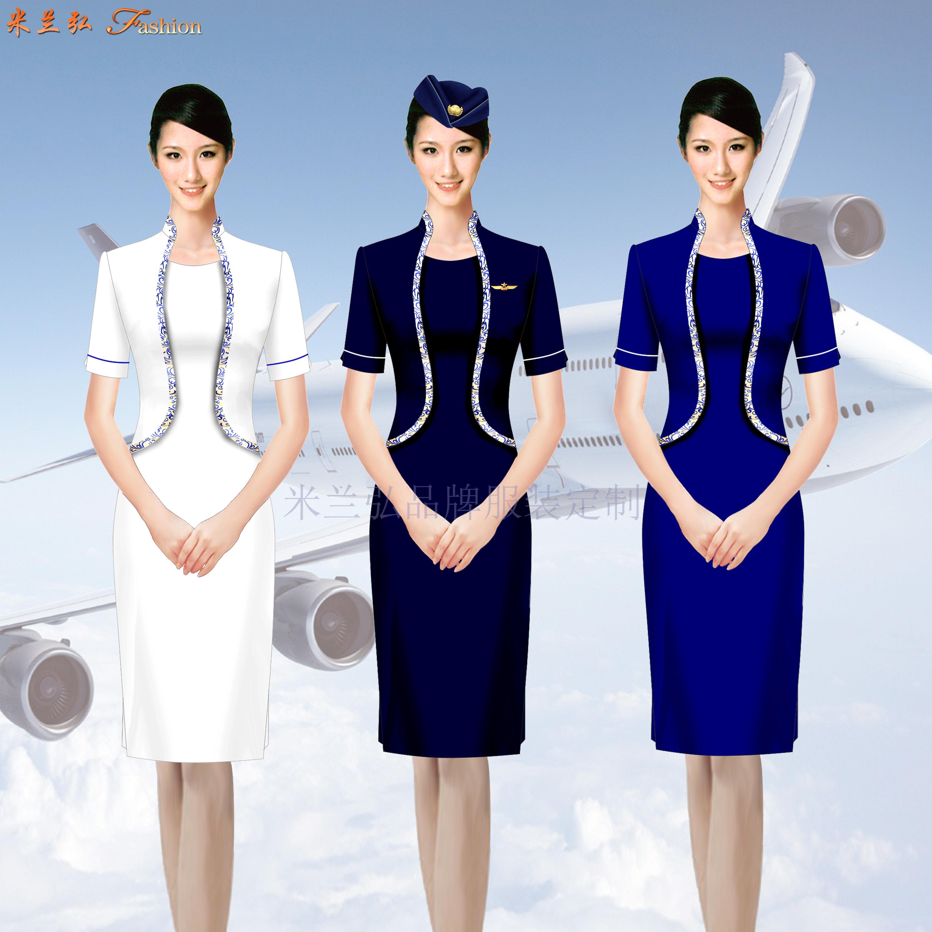空姐服裙裝訂制定做空姐服連衣裙套裝價格-米蘭弘廠家-3