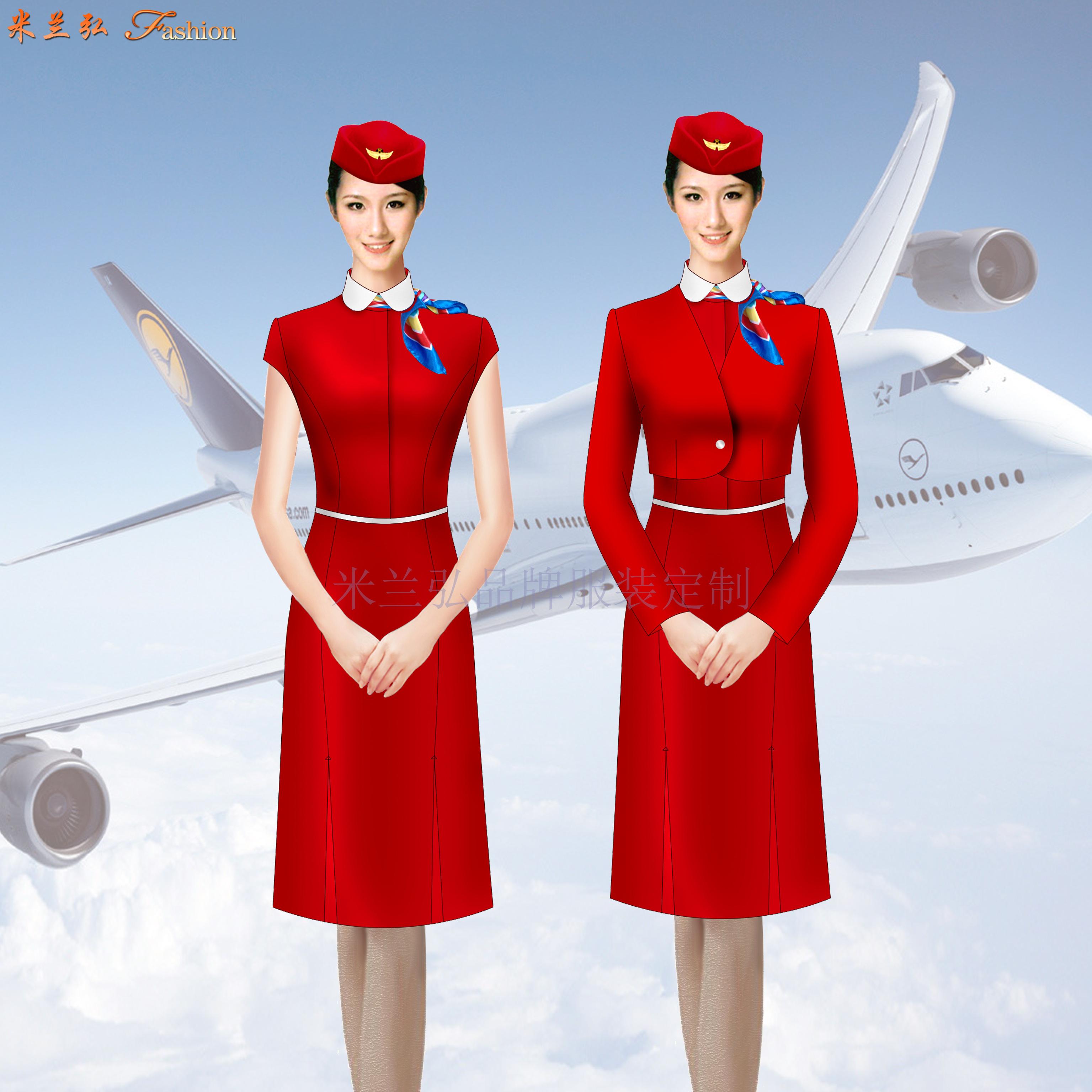 空姐服裙裝訂制定做空姐服連衣裙套裝價格-米蘭弘廠家-5