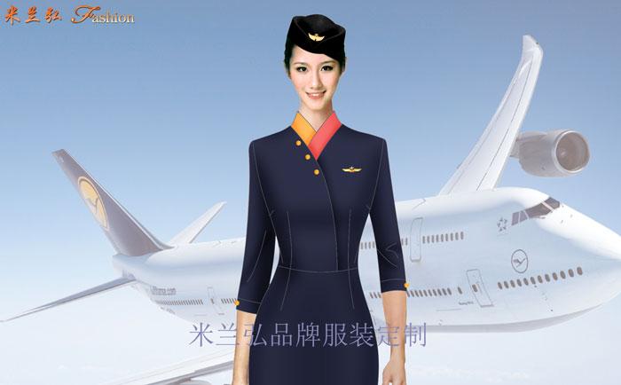 空姐服裙裝訂制——定做空姐服連衣裙套裝價格---米蘭弘廠家