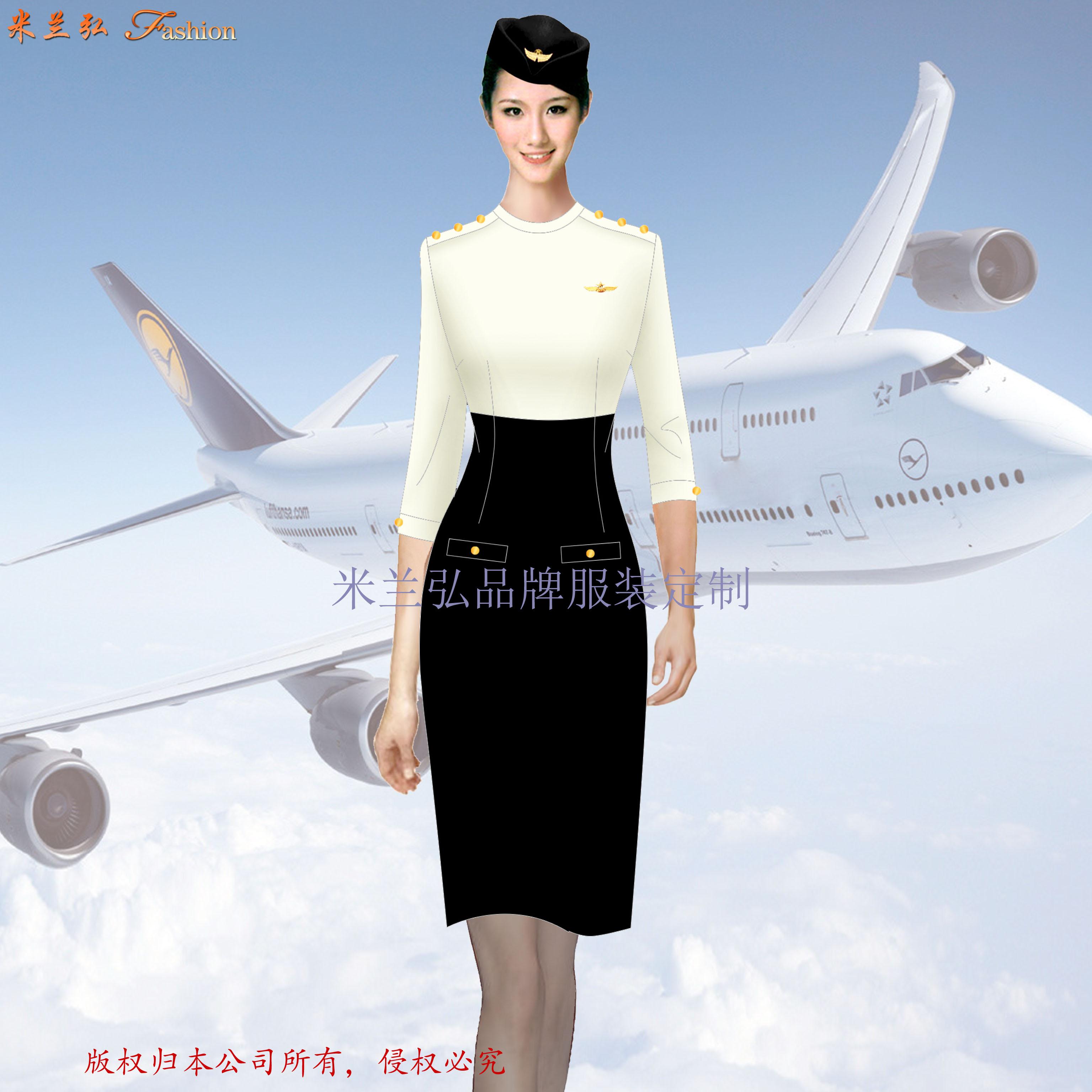 空姐制服連衣裙夏季時尚新款空姐職業裝-米蘭弘廠家-1
