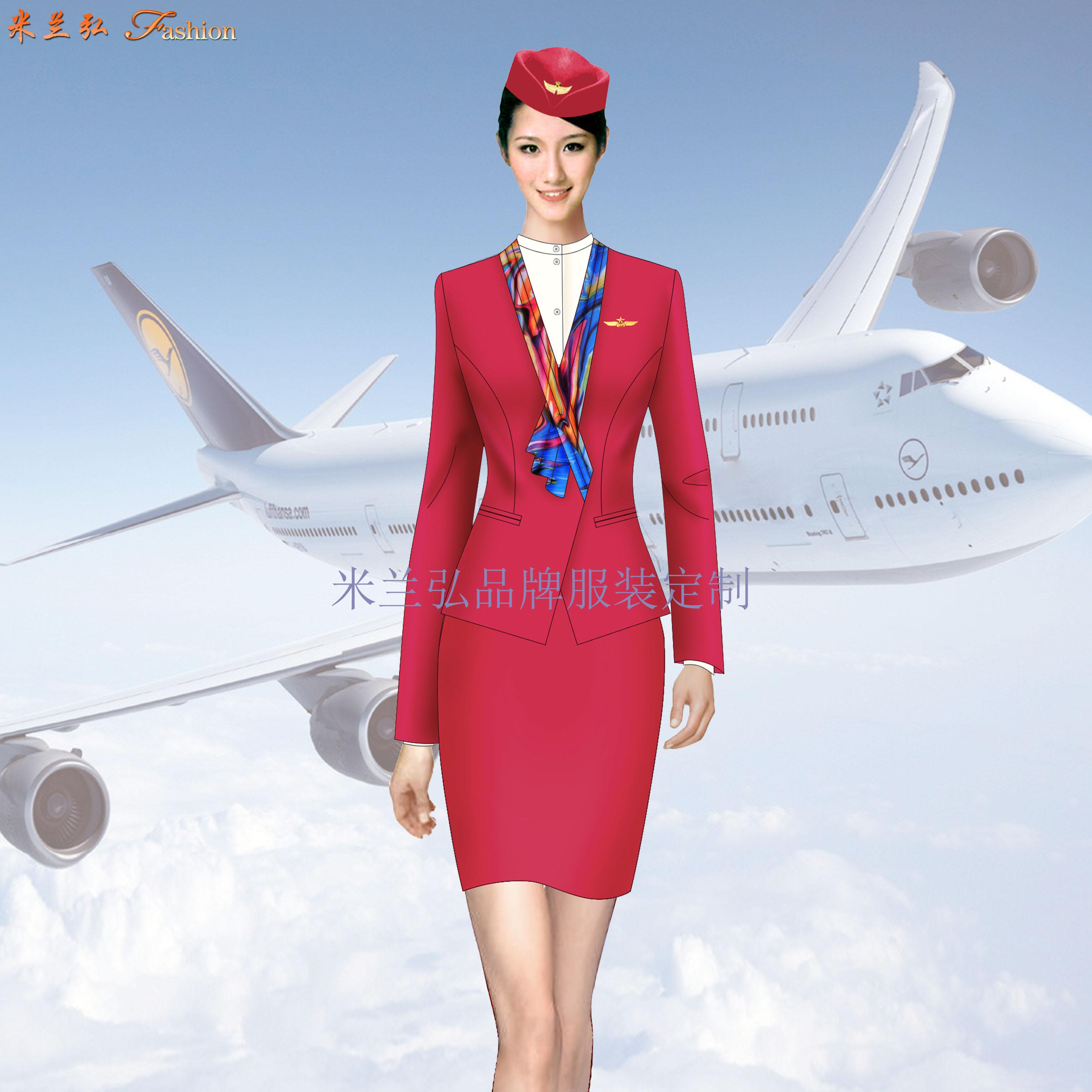 安徽空姐服定制-航空乘務員職業裝圖片-米蘭弘廠家-2
