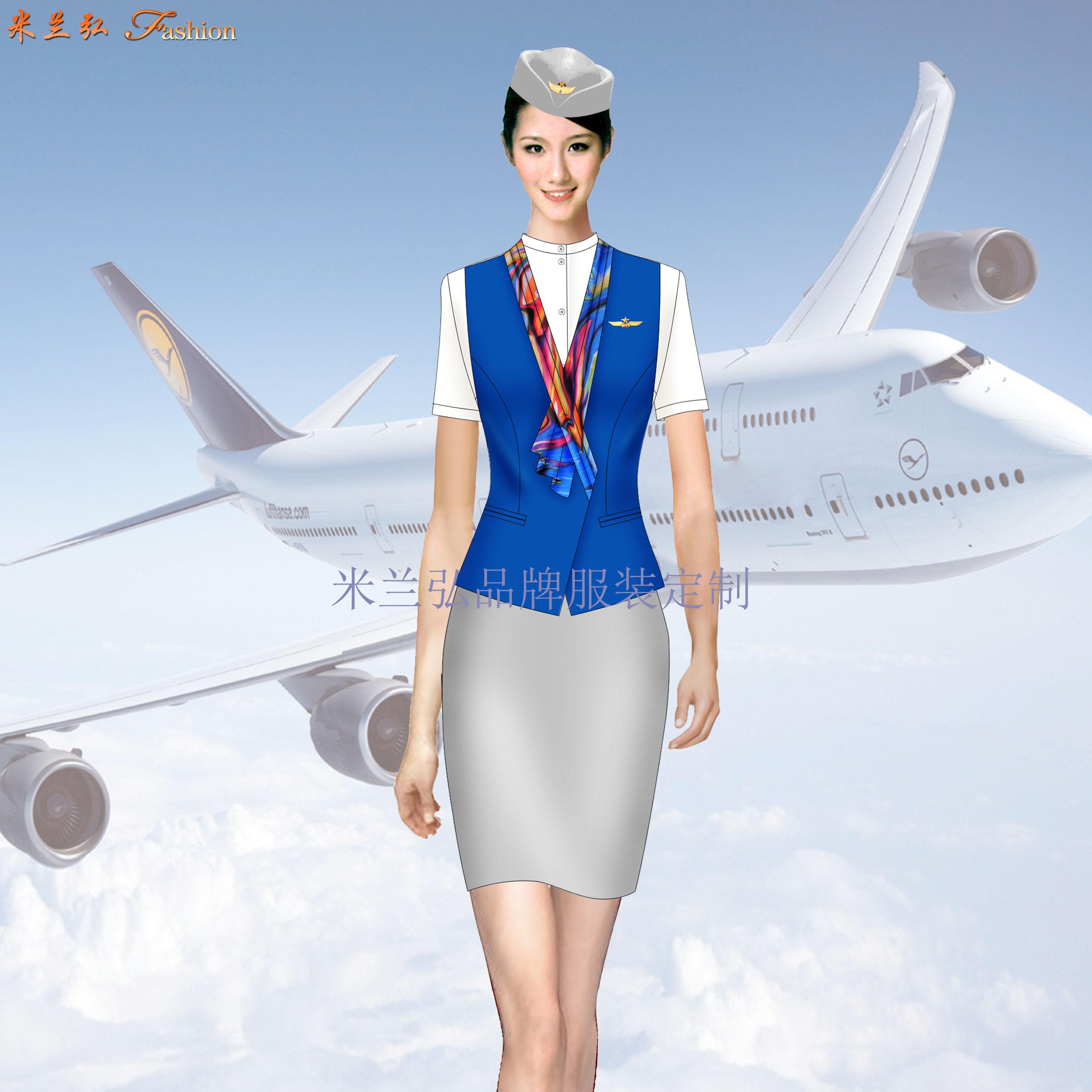 安徽空姐服定制-航空乘務員職業裝圖片-米蘭弘廠家-5