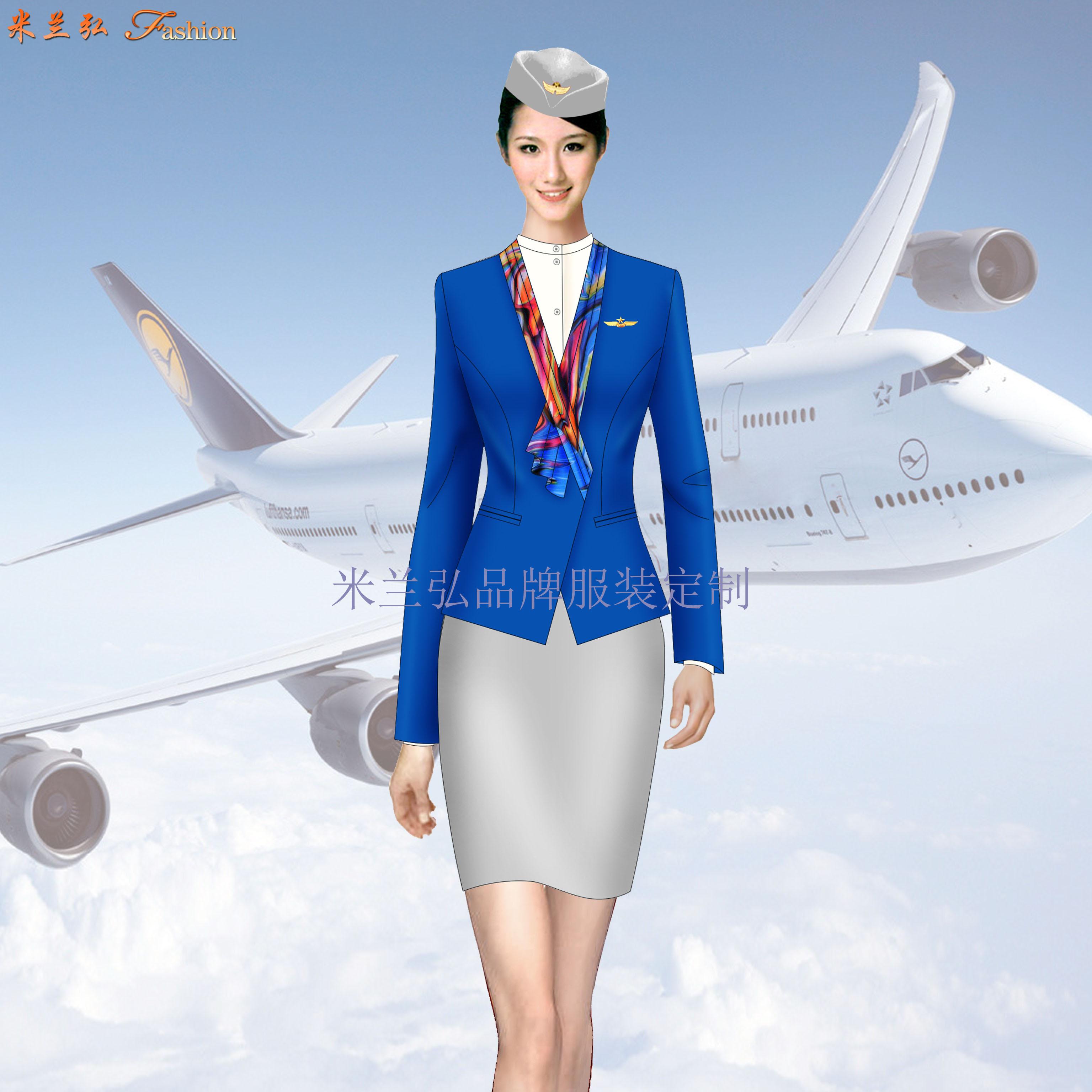 安徽空姐服定制-航空乘務員職業裝圖片-米蘭弘廠家-1