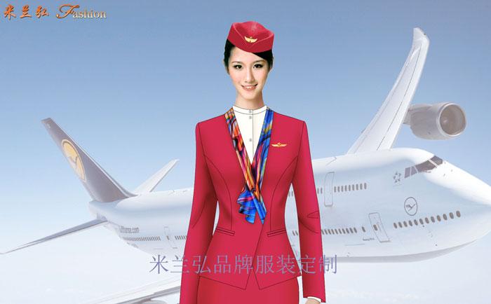 安徽空姐服定制-航空乘務員職業裝圖片---米蘭弘廠家
