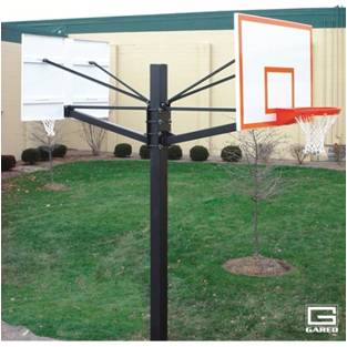 户外篮球架安装