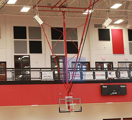 电动悬空篮球架图片厂家