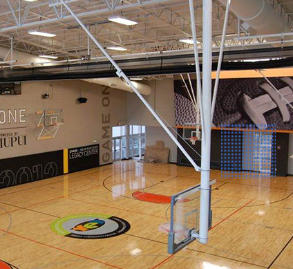 电动悬空折叠式篮球架