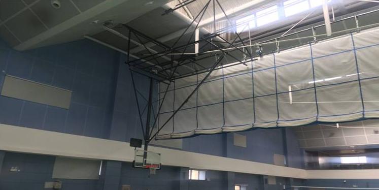 深圳电动悬挂式篮球架