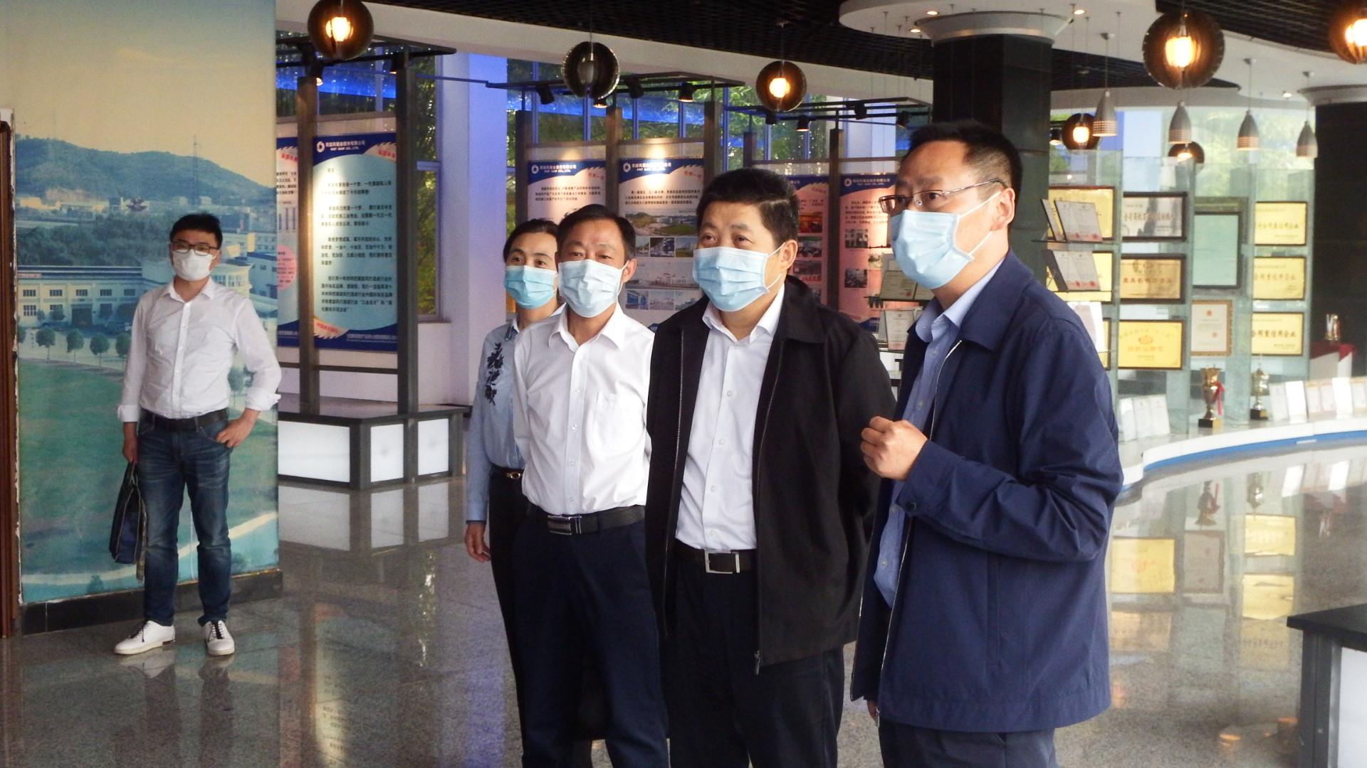 20200513湖北省总工会张方胜副主席到黑旋风股份走访