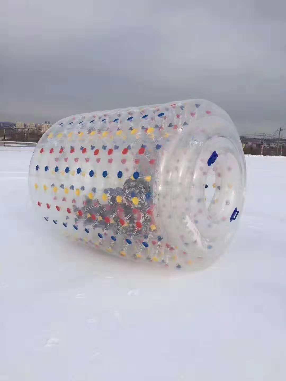 长白山冰上游乐-香蕉船-充气滚筒-2