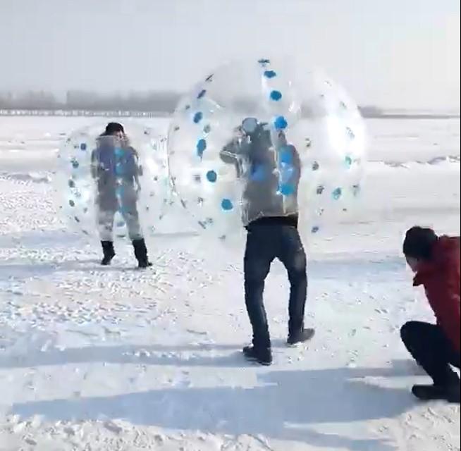 黑龙江北大荒滑雪场-碰碰球-1
