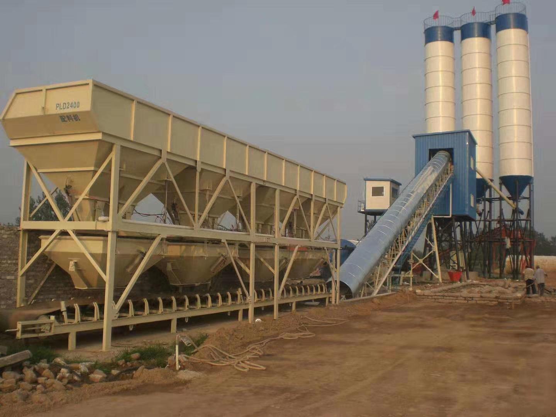 湖北枣阳HZS60型混凝土搅拌站现场