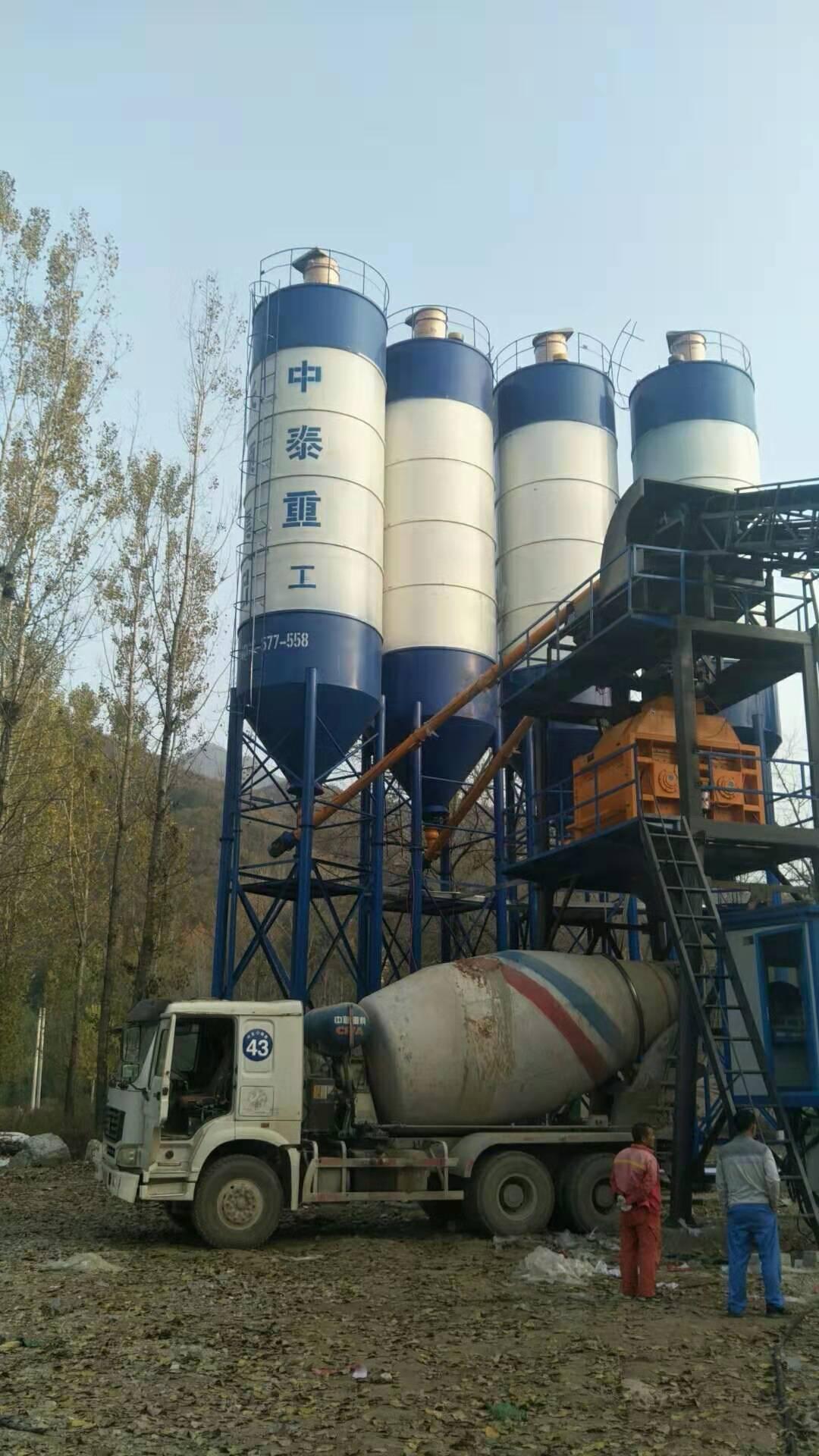 河北保定易县HZS90型混凝土搅拌站现场