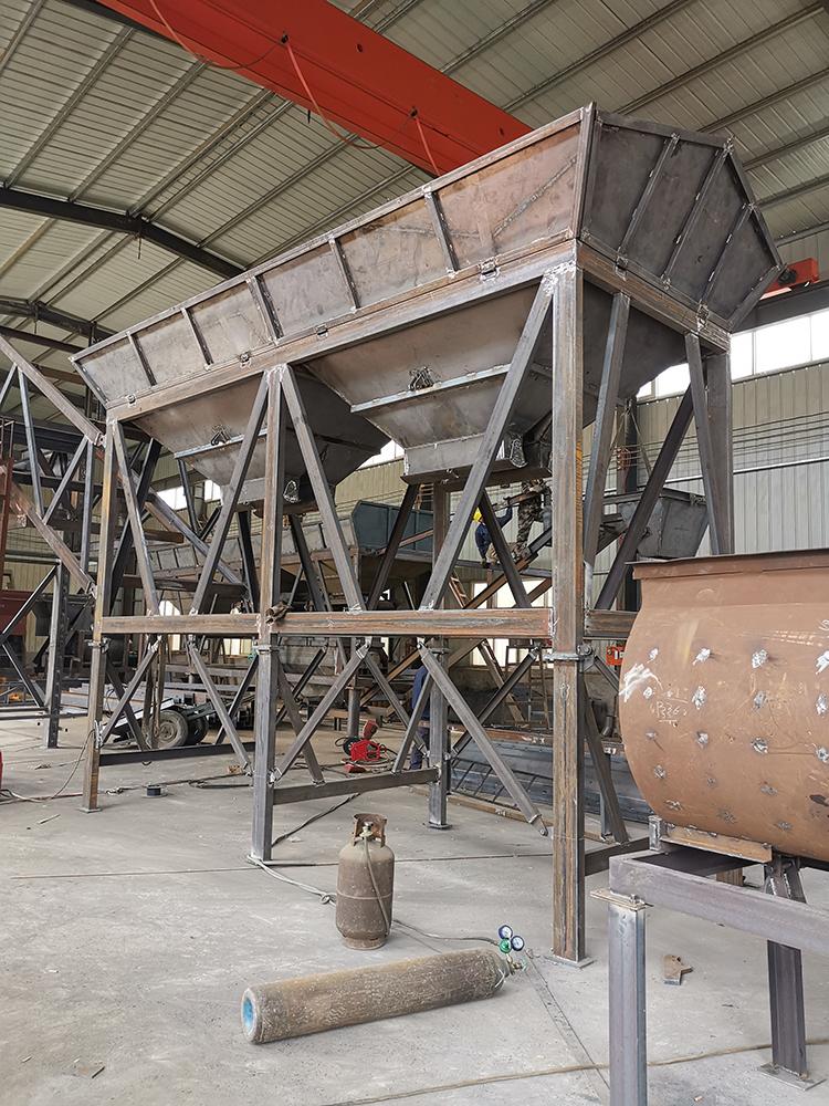 HZS60型移动免基础高效混凝土搅拌站赶制中