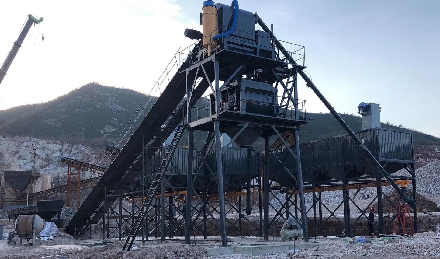 四川遂宁工程用HZS90型混凝土搅拌站