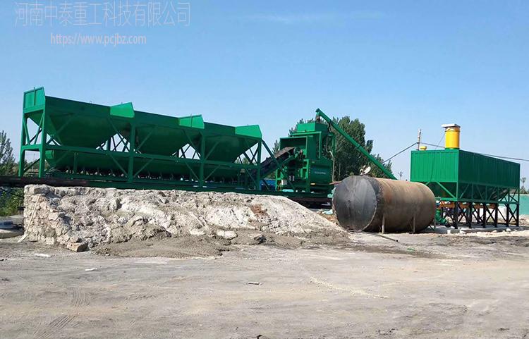 河北霸州YHZS100型强制移动混凝土750搅拌站