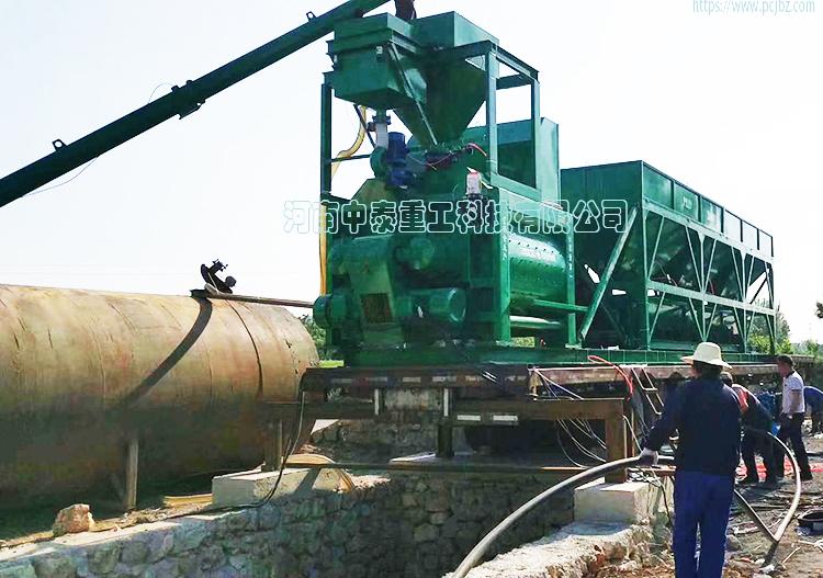 河北霸州YHZS100型移动混凝土搅拌车厂家750