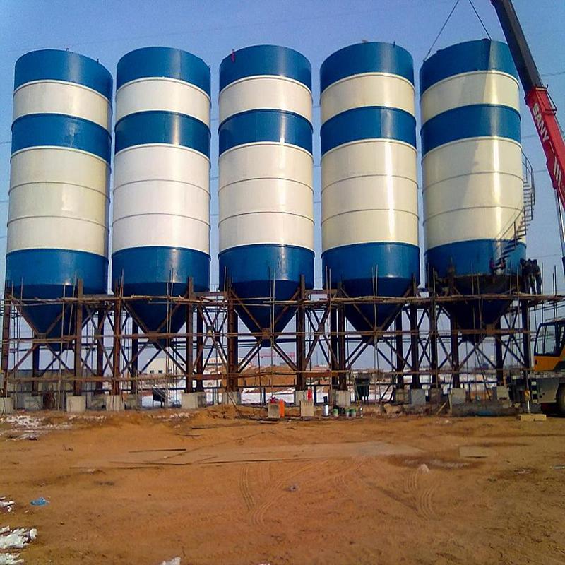 河南中泰重工立式水泥仓搅拌站配套用水泥罐800