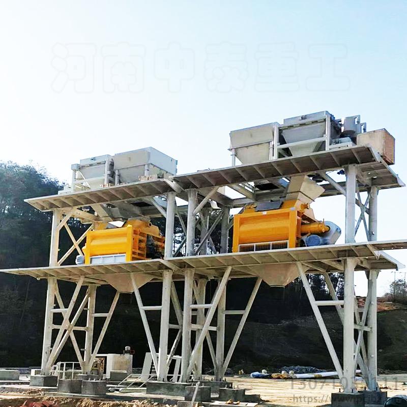 山西长治HZS120混凝土搅拌站800中泰重工