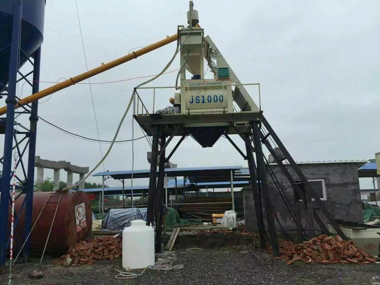 湖北孝感HZS50型混凝土搅拌站现场