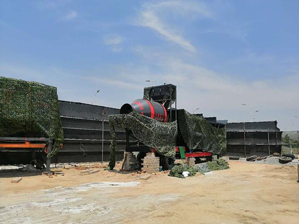 江苏泰州YHZM70型移动混凝土搅拌站现场