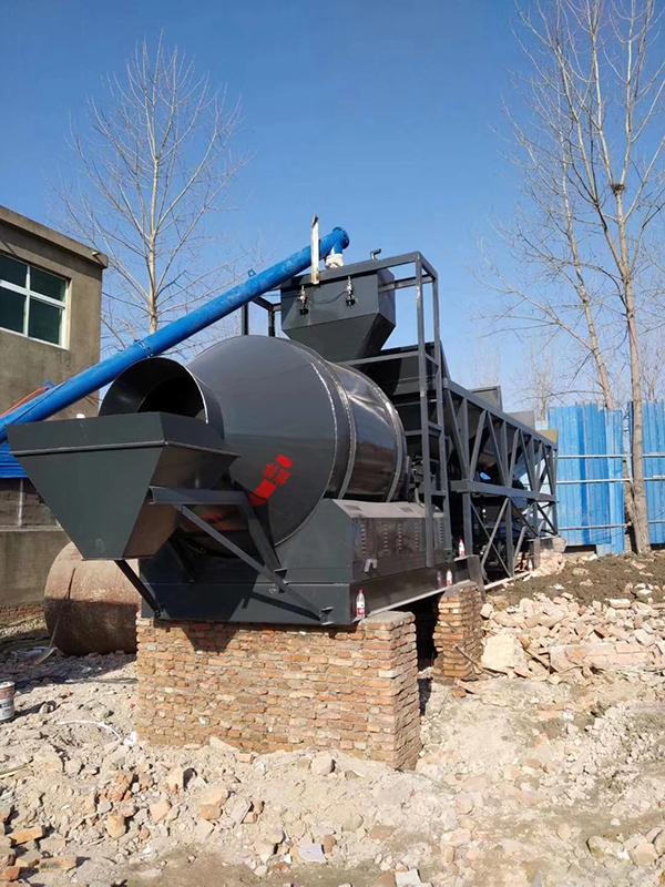 江苏徐州YHZM70型移动混凝土搅拌站现场