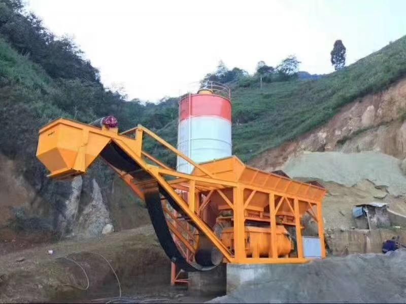山西阳城YWBZ300型移动稳定土拌合站现场