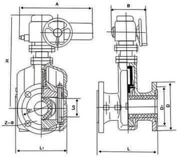 GJ941X電動管夾閥2
